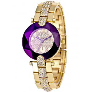 Roman Numerals Dial Plate Rhinestone Watch -