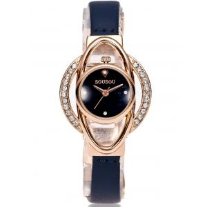 PU Leather Vintage Rhinestone Watch