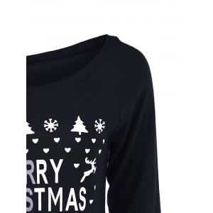 Christmas Tree Skew Collar Sweatshirt - BLACK XL