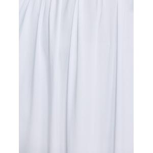 Floor Length Empire Waist A Line Formal Maxi Prom Evening Dress - WHITE 3XL