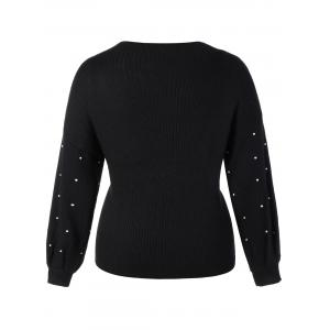 Plus Size Beaded Sweater -