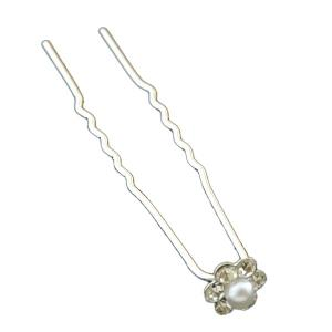 Concise Faux Pearl Hairpin -