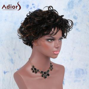 Outstanding Side Bang Mixed Color Short Fluffy Curly Women's Synthetic Wig - COLORMIX