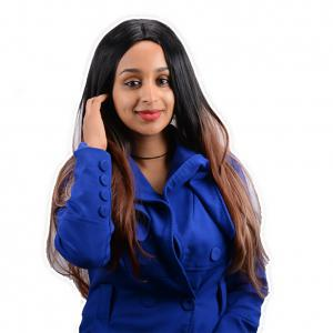 Long Centre Parting Ombre Color Straight Synthetic Wig -