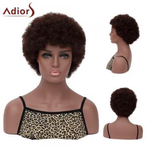 Adiors Hair Short Neat Bang Afro Curly Synthetic Wig