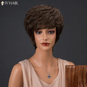 Siv Hair Short Fluffy Full Bang Layered Curly Real Natural Hair Wig