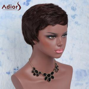 Ultrashort Curly Oblique Bang Synthetic Wig -