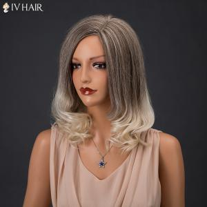 Siv Hair Medium Colormix Side Parting Wavy Real Natural Hair Wig -