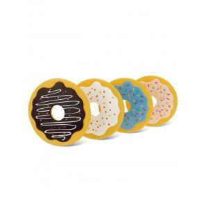 4PCS Cartoon Thermal Insulation Table Doughnut Coasters -