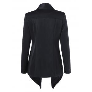 Shawl Collar Asymmetrical Blazer -