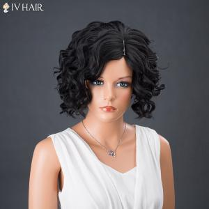 Short Side Parting Curly Shaggy Siv Human Hair Wig -
