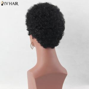 Ultra Short Shaggy Afro Curly Siv Human Hair Wig -