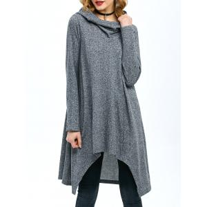 High Low Hem Hooded Coat