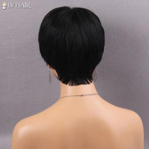Siv Hair Human Hair Short Side Bang Straight Wig -