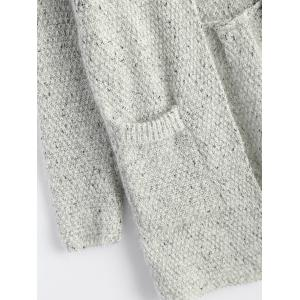 Open Front Knit Cardigan with Pockets -