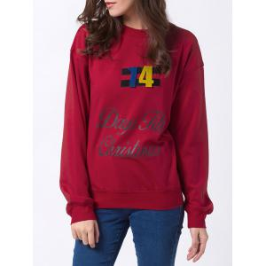 Jewel Neck Days Till Christmas Sweatshirt
