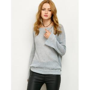 Cut Out Wrap Loose Knitwear -
