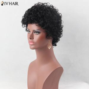 Ultra Short Shaggy Curly Siv Human Hair Wig -