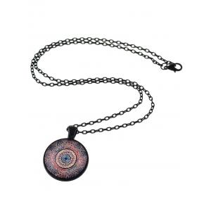Mandala Pattern Pendant Necklace -
