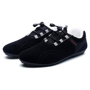 Elastic Band Flocking Suede Casual Shoes -