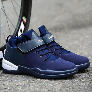High Top Suede Sneakers - Blue - 42