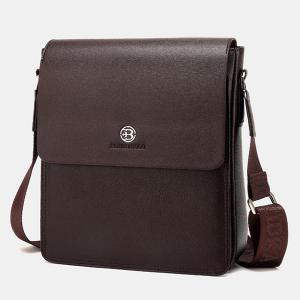 Covered Closure Dark Colour Crossbody Bag -