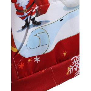 Christmas Plus Size Snowman Kangaroo Pocket Hoodie -