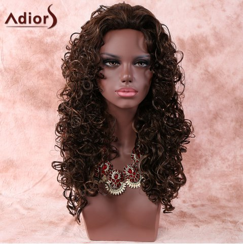 Shops Stylish Deep Brown Long Curly Women's Synthetic Hair Wig DEEP BROWN