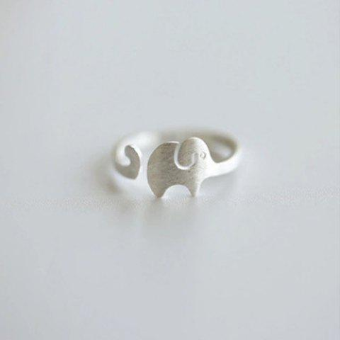 Trendy Elephant Shape Cuff Ring SILVER