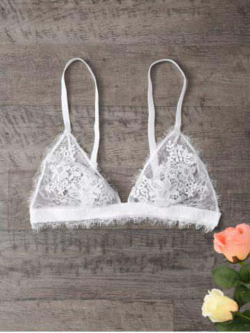 Discount Eyelash Lace Panel See Thru Bra