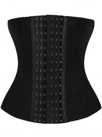 Buy Breathable Hook Waist Trainer BLACK 6XL