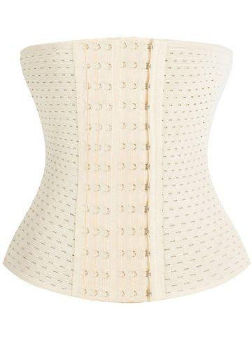 Latest Breathable Waist Stomach Corset OFF WHITE 3XL