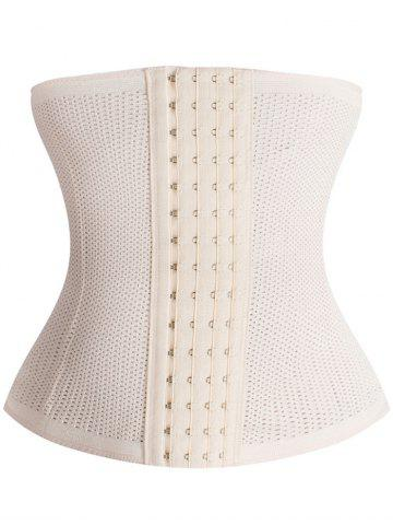 Unique Stretchy Porous Shaperwear Corset LIGHT BEIGE S