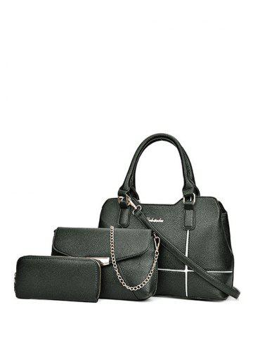 Fashion Textured Leather Dome Stud Zip Tote Bag