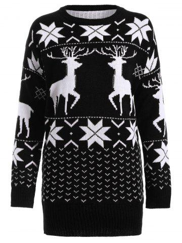 Latest Fawn Snowflake Long Christmas Sweater