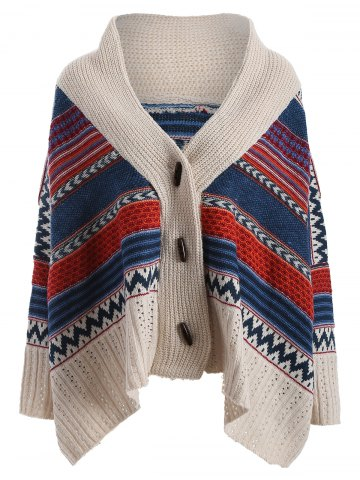 Unique Colored Stripe Christmas Oversized Cardigan