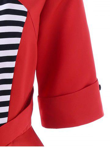 Buy Midi Vintage Dress With Striped - L RED Mobile