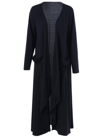 Discount Open Front Plus Size Duster Cardigan