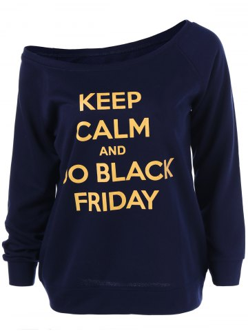 Shop Black Friday Skew Collar Graphic Sweatshirt