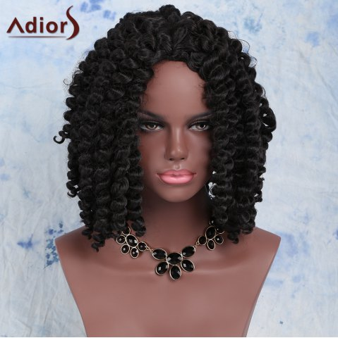 Latest Fashion Short Dark Brown Afro Curly Women's Synthetic Hair Wig BLACK BROWN