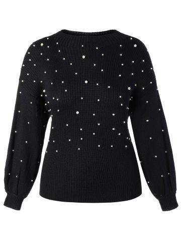 Online Plus Size Beaded Sweater