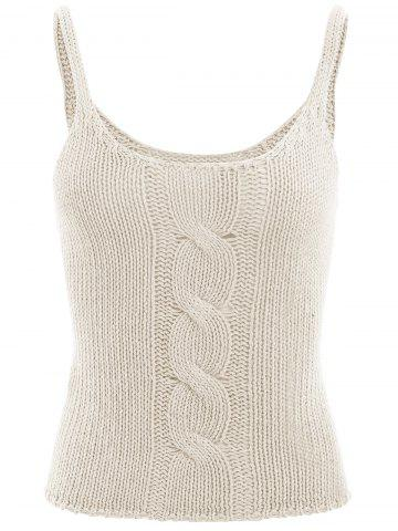 Cable Knit Vest - Off-white - One Size