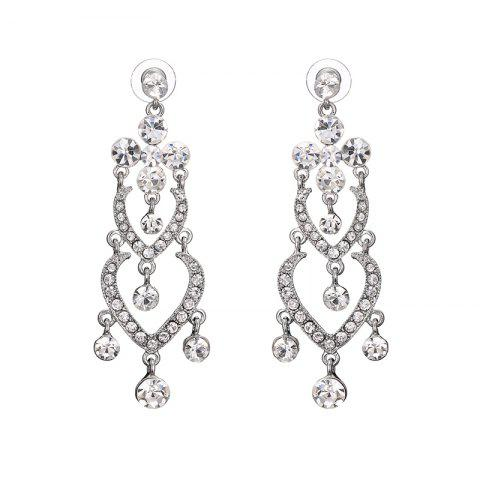 Best Rhinestone Heart Chandelier Earrings