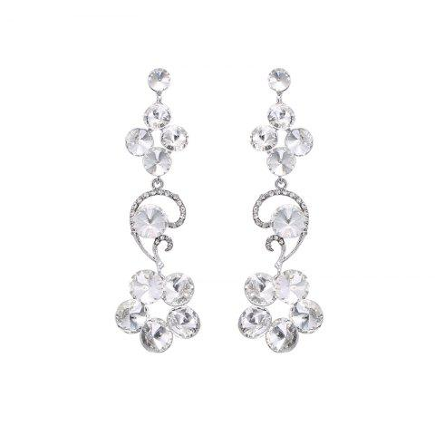 Store Rhinestone Flower Drop Earrings
