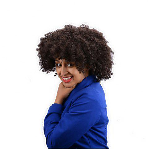 Shops Short Full Bang Afro Curly Synthetic Wig