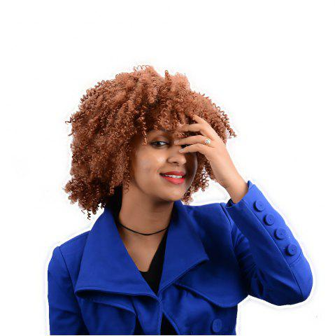 Sale Afro Curly Short Neat Bang Synthetic Wig