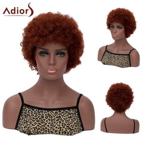 Outfit Adiors Hair Faddish Short Neat Bang Afro Curly Synthetic Wig