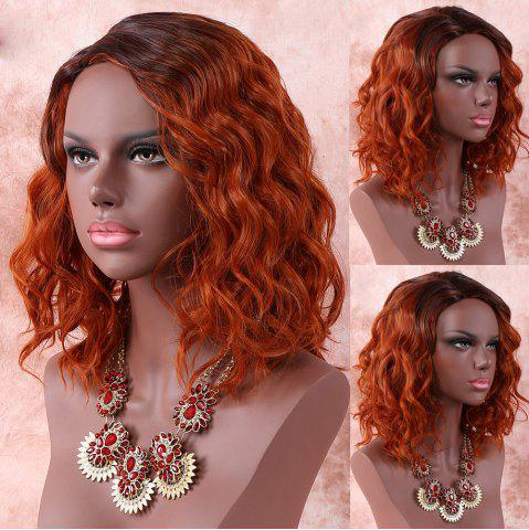 Outfits Medium Side Parting Color Mixed Wavy Synthetic Wig