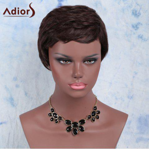 Outfits Ultrashort Curly Oblique Bang Synthetic Wig