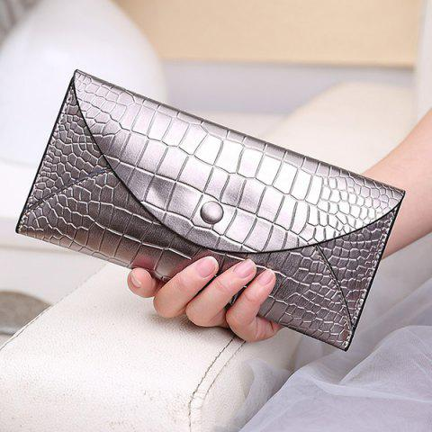 Shops Envelope Style Slim Crocodile Wallet